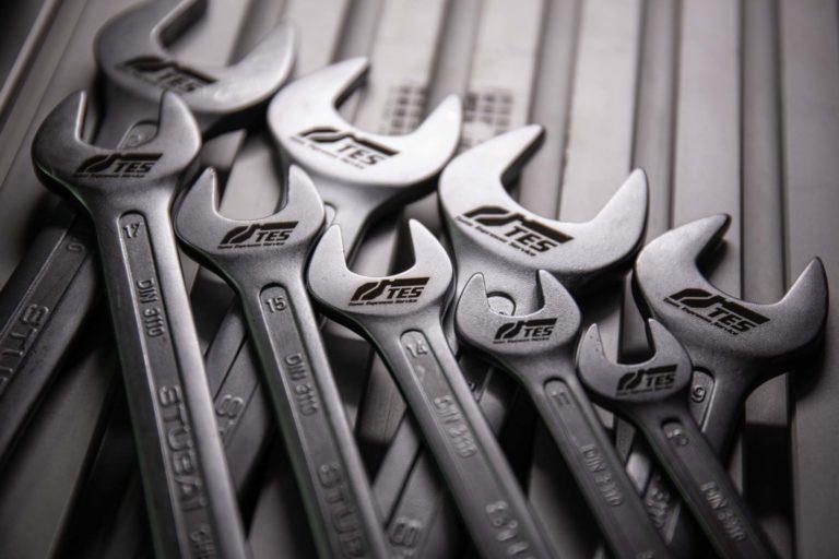 Stubai Schraubenschlüssel mit TES Werkzeug Beschriftung